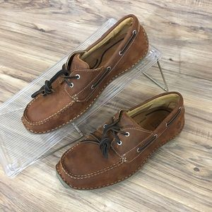 TIMBERLAND ANNAPOLIS 2 EYE MOC TOE LEATHER BOATNEW